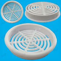 2x White Vivarium Reptile Push Fit Round 65mm Air Vents, 60mm Hole, Ventilation