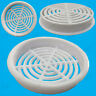 6x White Vivarium Reptile Push Fit Round 65mm Air Vents, 60mm Hole, Ventilation