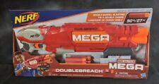 NERF B9597F07 N-Strike MEGA DoubleBreach Blaster w 6 Darts double barrel pump