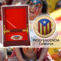 WR Monedas de oro independientes de Cataluña 2014 y cajas de regalo rojas
