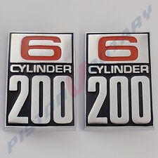 6 CYLINDER 200 Guard Badges (x2) New for Ford CORTINA TC TD Fender MK1 GT GS XLE