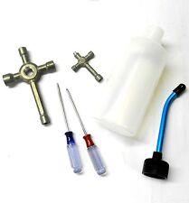 Mini RC Nitro Glow Starter Kit Tool 350ml 350cc Bottle Grey Wrench