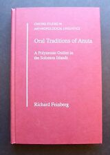 Oral Traditions of Anuta A Polynesian Outlier in the Solomon Islands by Feinberg