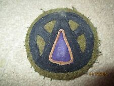 WWI US Army patch 89th Division MG unit patch AEF