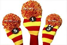 Christmas gift Golf club headcovers 1 3 5 Red Yellow head cover Set usc colors