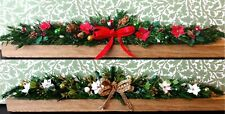 1:12 Miniature Christmas Garlands Decoration for Fireplace Dolls House Ornament