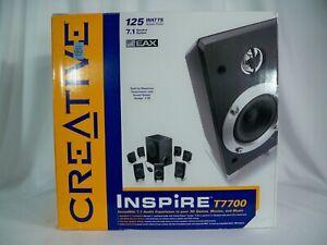 K21i00101 CREATIVE INSPIRE T7700 MULTIMEDIA SPEAKER SYSTEM 7.1 W/ BOX 125 WATTS