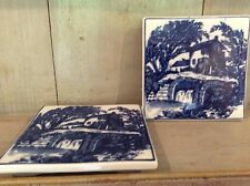 Pottery teapot stand X Two  blue and white ware