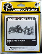 HO/HOn3 Scale Woodland Scenics 'Seeder and Tractor' KIT, Item #D208