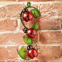 Garden Ornaments Bumble Bee Ladybird Wall Art Metal Home OutdoorIndoor Decor NEW