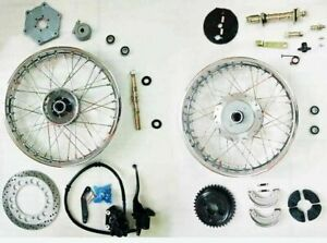 For Royal Enfield Complete Front & Rear Wheel + front wheel Disc Brake Kit @AD