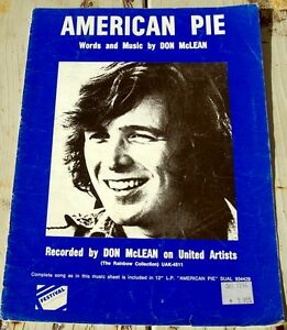 AMERICAN PIE ..DON McLEAN.. Words and Music