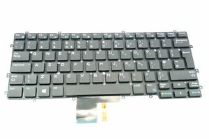 GENUINE NEW DELL LATITUDE 13 7370 XPS 9250 BACKLIT UK KEYBAORD PART NO:8T5PP