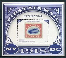 Canouan Gren St Vincent 2018 MNH First Airmail Curtiss Jenny 1v S/S Stamps