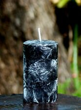 200hr BLACK JASMINE Floral Scented PILLAR CANDLE Coconut Wax with a Cotton Wick
