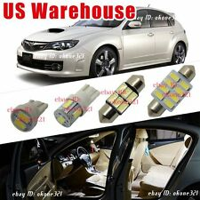 10-pc Luxury White LED Lights Interior Package Kit for 2002-up Subaru Impreza