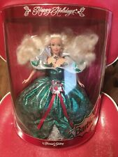 Collectible 1995 Happy Holidays Barbie Doll New In Box, Never Removed!