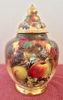 "Chantilly Fine Art RARE 11"" French Gold Gilt Hand-Painted Porcelain Urn Vase"