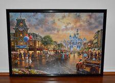 Disney Parks Thomas Kinkade Jigsaw Puzzle 1,000 Pieces Assembled With Frame New