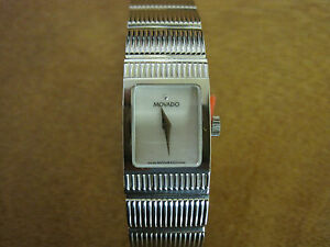 # 153 ladys stainless steel 6.5 inch MOVADO watch bracelet