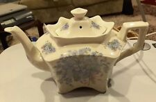 Collectible floral Porcelain Teapot Staffordshire Token Pottery Ltd England!