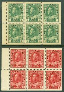 EDW1949SELL : CANADA 1911 Scott #104F, 106a Booklet pane of 6 F-VF, MOG Cat $75.