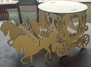 Horse & Carriage Cake Stand for Christmas Wedding, Birthday, Christening
