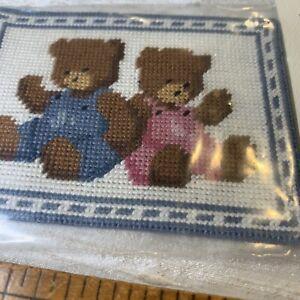 Miniature Dollhouse Two Bears Petit Needle Point EVN53