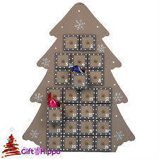 Christmas Decorations - Large Brown Tree Advent Calendar - Advent Calander