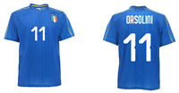 Maillot Orsolini Italie Officiel Équipe Nationale Azzurri Figc 11 Under 21