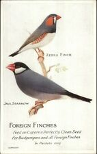Capern's Bird Food Advertising c1910 Postcard FOREIGN FINCHES gfz