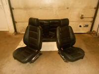 Sitz Fahrersitz Beifahrersitz OHNE Rücksitzbank BMW E36 Limousine Leder