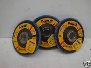 3 X DEWALT DT3256 115MM INOX ANGLE GRINDER SANDING FLAP DISCS 60GRIT