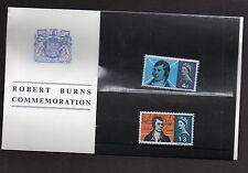 QEII 1966 Presentation Pack Burns Commemoration Stamps