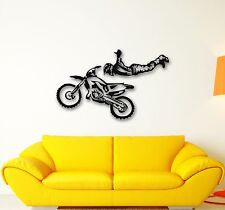 Wall Stickers Vinyl Decal Motorcycle Sports Extreme Freestyle Stunts (ig666)