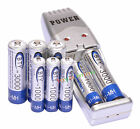4 AA + 4 AAA 1000mAh 3000mAh 1.2V NI-MH BTY Rechargeable Battery + USB Charger