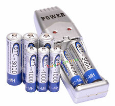 4 AA + 4 AAA 1000mAh 1.2V 3000mAh NI-MH BTY batterie rechargeable + chargeur USB