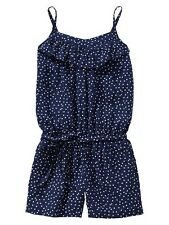 Nwt New Gap Kids Girl Star Printed Ruffle Romper Xs 4-5