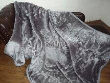 XXL LUXUS Tagesdecke Kuscheldecke Wohndecke Decke Plaid grau anthrazit 200x240cm
