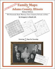 Family Maps Adams County Illinois Genealogy IL Plat