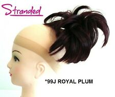 HAIR PIECE STYLED CLAMP EXTENSION CLAW CLIP INSTANT UPDO ROYAL PLUM PURPLE *99J