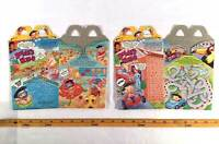McDonalds 1994 Bobbys World Lot 2 Happy Meal Boxes Cardboard Gift Party Cartoon
