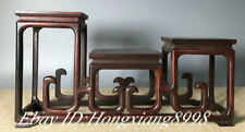 """16"""" Old Chinese Huanghuali Wood Carving Dynasty Flower Stand Bookshelf"""