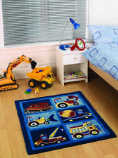 Normal kids bedroom Rich Boys Girls Multi Trucks Diggers Bedroom Rugs Easy Clean Childrens Kids Play Mats Beingchildfreecom Polyester Childrens Bedroom Normalpile Rugs Carpets For Children