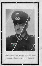 STERBEBILD   AVIS DE  DECES  SOLDAT  ALLEMAND  MORTAIN   NORMANDIE  1944 ( 249 )