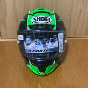 Shoei motorcycle full face helmet x-14 LAVERTY limited model size M used