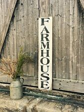 "Large Rustic Wood Sign - ""Farmhouse"" Vertical - 3 Feet!!! - Fixer Upper, Kitchen"