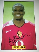 SYLVAN EBANKS BLAKE HAND SIGNED AUTOGRAPH 6X4 PLAYER PHOTO MANCHESTER UNITED