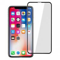 For iPHONE X / XS - TEMPERED GLASS SCREEN PROTECTOR 5D CURVED EDGE FULL COVER HD