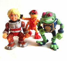 Retro 1980's Vintage Toys BUCKY O HARE 3 action figure set lot, good condition